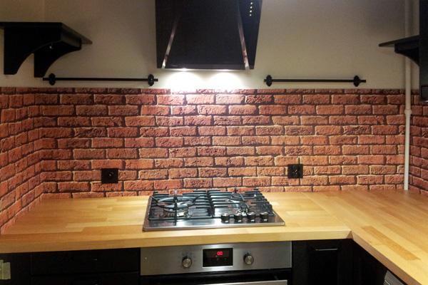 panel kuchenny cegły